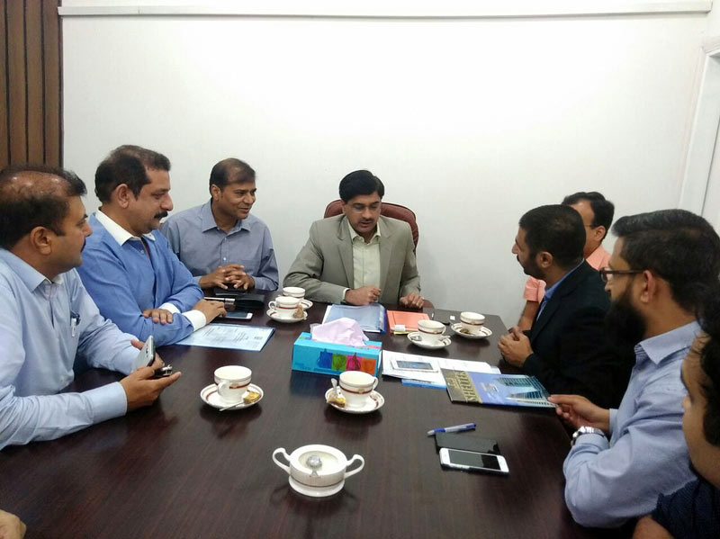 Meeting of ABAD Delegation with Mr. Laeeq Ahmed, Administrator Karachi Metropolitan Corporation (KMC), ABAD Delegation Lead By Mr. Asif Sumsum, Chairman Southern Region ABAD along with Mr. Ahmed Owais Thanvi, Convener of KMC Sub-Committee - ABAD, Mr. Muhammad Sohail Warind, Convener of Anti-Encroachment Cell & Law and Order Sub-Committee - ABAD